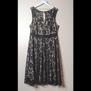 Torrid black lace dress size 18